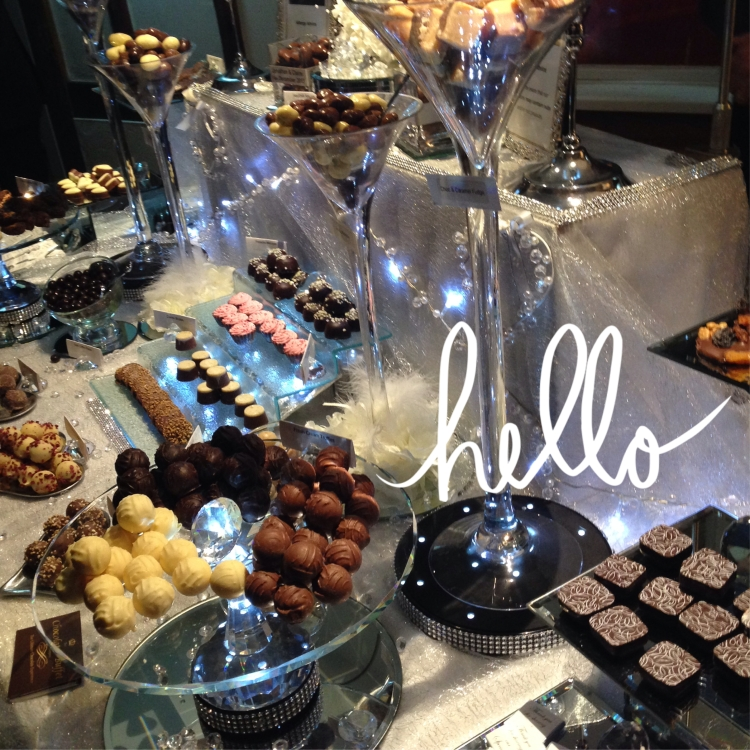 chocolate buffet at wedding reception