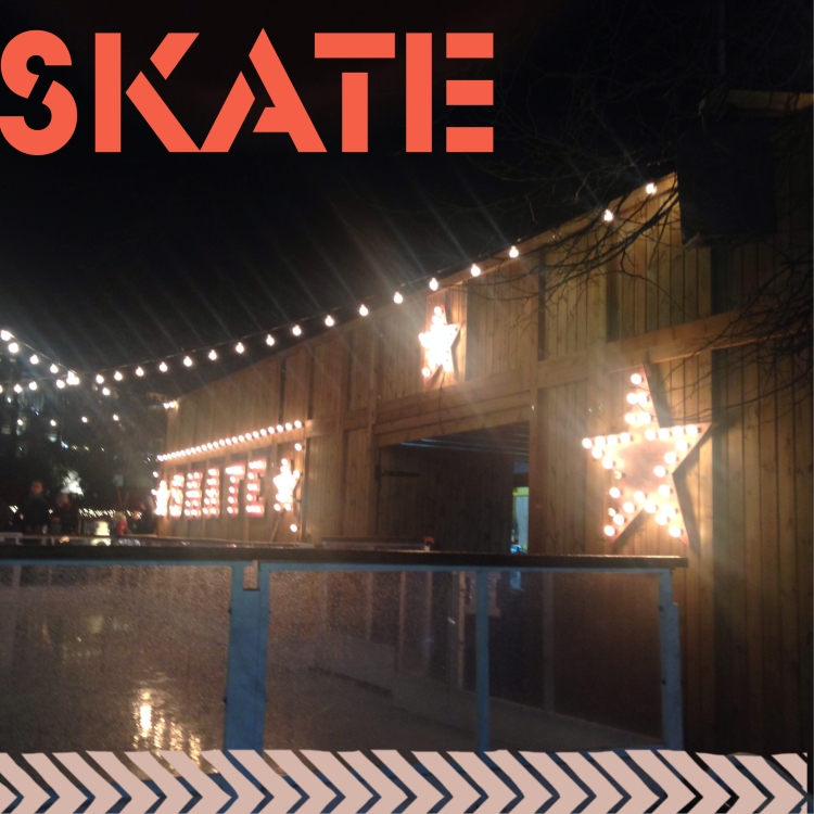 A skate rink at Prince Street Gardens - part of Edinburgh's Christmas Festival