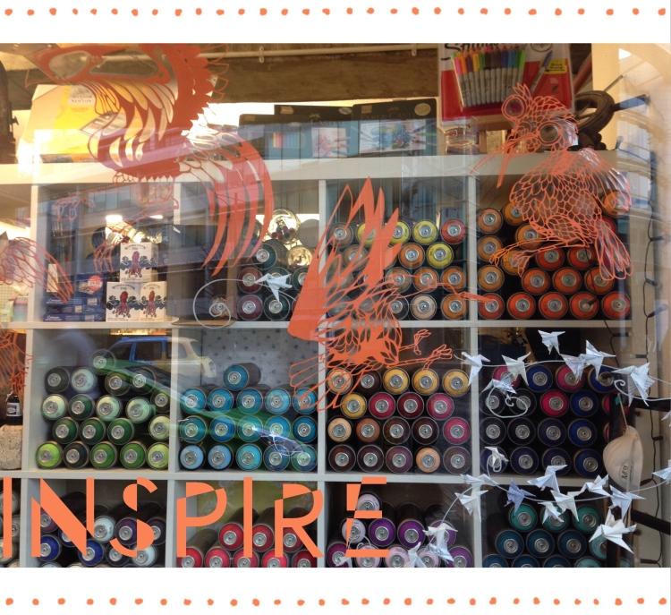 Display of the Edinburgh Art Shop