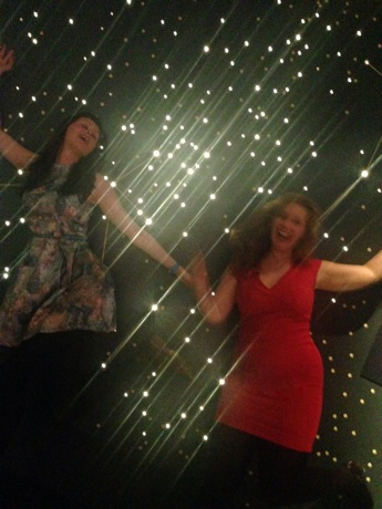 ash and i at constellations section of museum