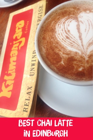 chai latte at Kilimanjaro