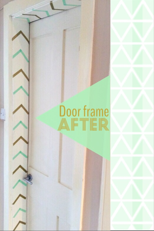 door frame with washi tape